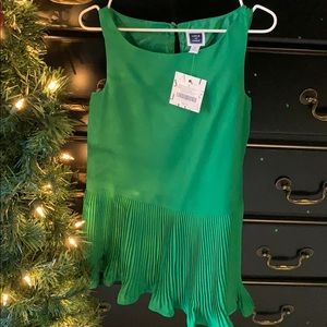 NWT Janie and Jack size 5 Green Christmas Dress